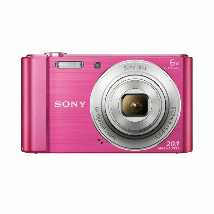 "Sony Cyber-shot DSC-W810 Compact camera 20.1 MP 1/2.3"" CCD 5152 x 3864 pixels Pink"