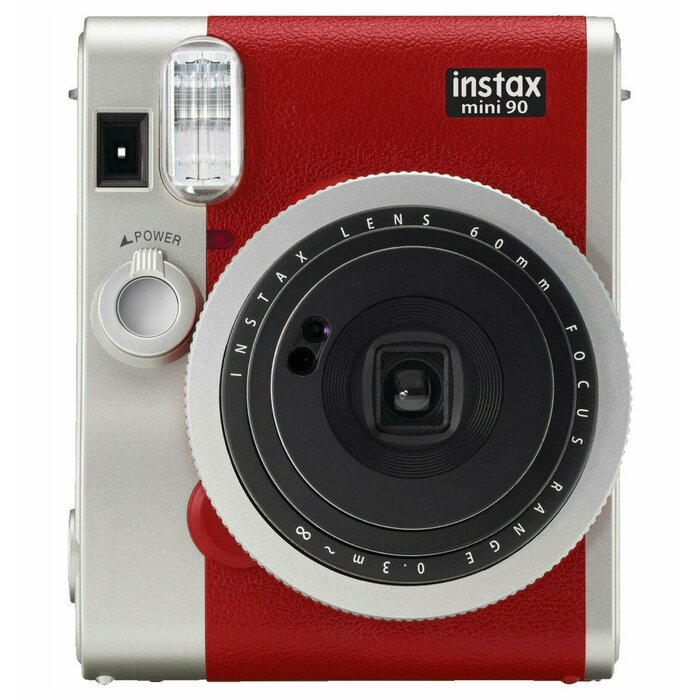Fujifilm instax mini 90 Neo Classic 62 x 46 mm Red, Stainless steel