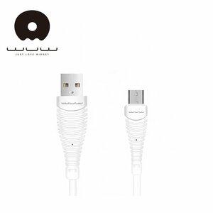 WUW X75 Universāls Micro USB uz USB Datu un Ātras uzlādes Izturīgs kabelis 0.9m Balts