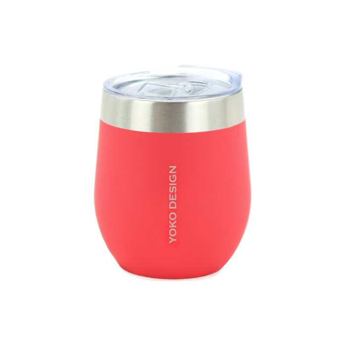 Yoko Design Isotherm mug with cup Isothermal, Red, Capacity 0.25 L, Bisphenol A (BPA) free
