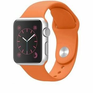 Tactical Silicone Band for iWatch 4 44mm  Orange