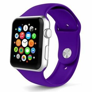 Tactical Silicone Band for iWatch 4 44mm  Purple