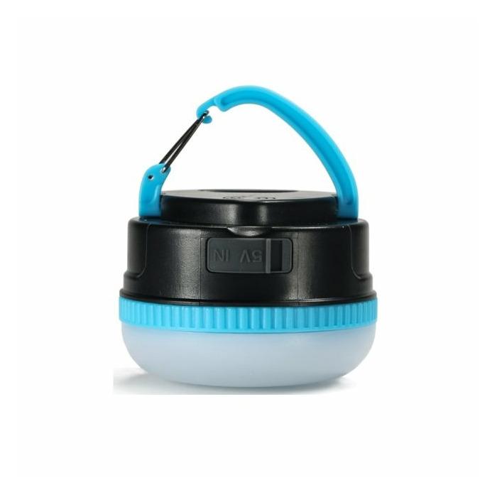 Remax RPL-17 3000mAh Power Bank USB Lādētājs 5V 1A + Piekarināms LED Lukturis Zils