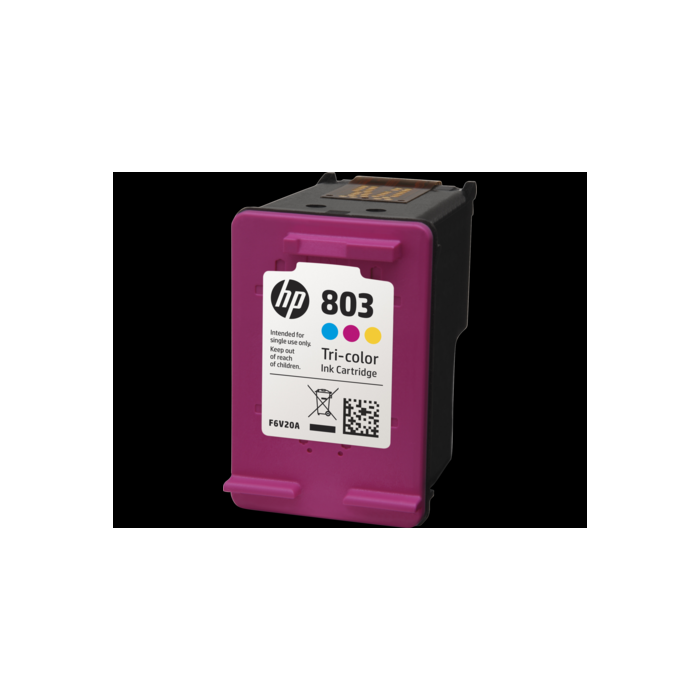 HP 803 Tri-color Original Ink Cartridge ink cartridge originalais, bez iepakojuma