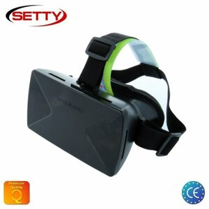 """Setty 3D Universālas 3.5-6"""" Mobīlā telefona Virtuālās Realitātes VR Brilles ar ērtu Klipša fiksācijas sistēmu Melnas"""