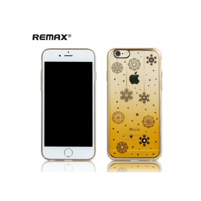 Remax D3 Diamond Color 0.5mm Plāns Plastikāta Maks-Apvalks ar Zeltainu rāmi Apple iPhone 6 6S (4.7inch)
