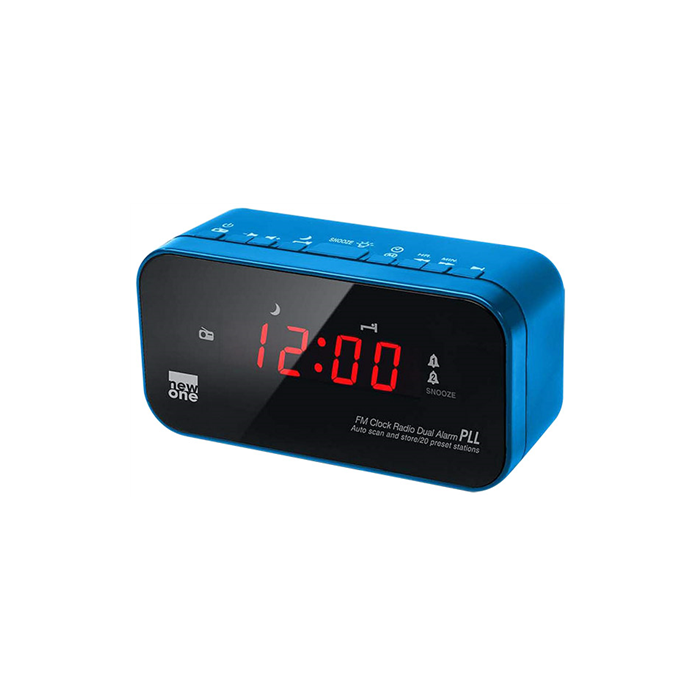 New-One CR120BL Blue, Alarm function, Dual alarm clock radio PLL