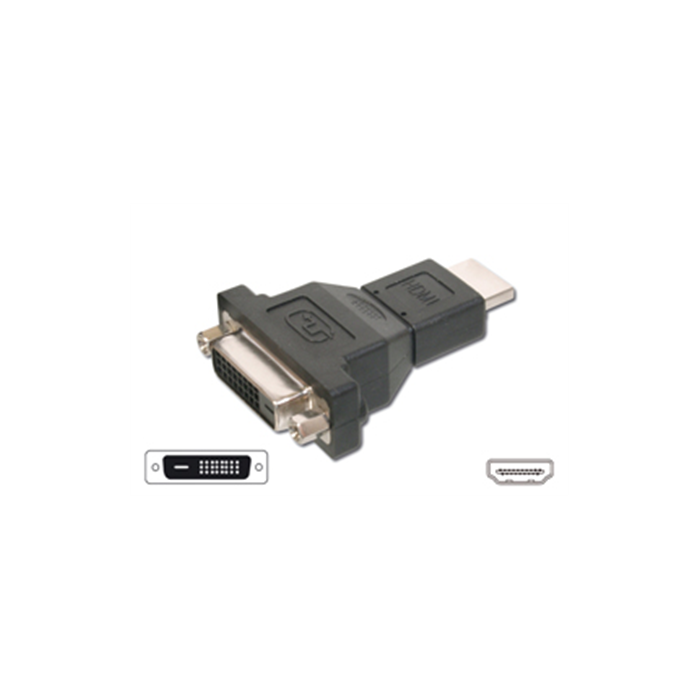 ACC HDMI male to DVI female adapter: DVI-D 24+1p F, HDMI M