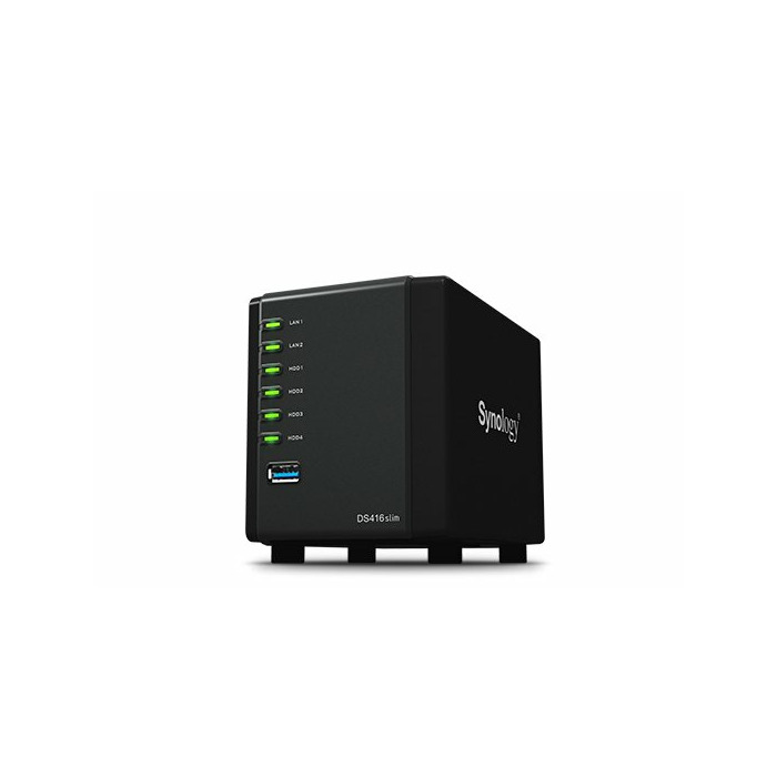 Synology DiskStation DS416slim Ethernet LAN Desktop Black NAS