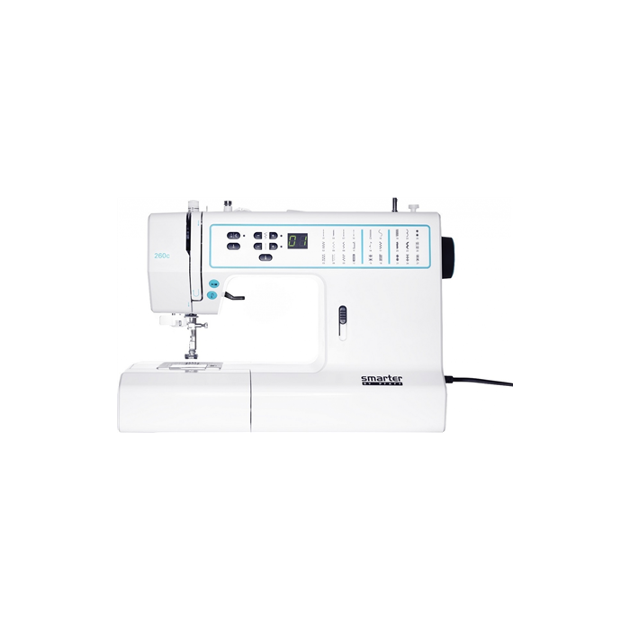Sewing machine PFAFF SMARTER 260S  White/Green, Number of stitches 27, Number of buttonholes 1, Automatic threading