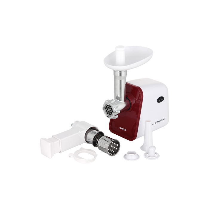 Scarlett Meat Grinder SC-MG45M08 White, 1600 W, Number of speeds 1, 2,5, Sausage horn
