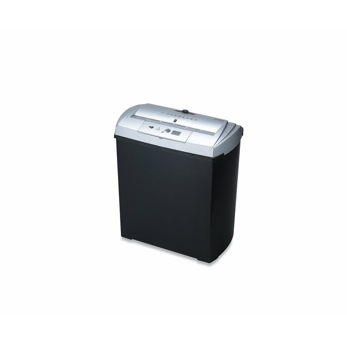 Ednet S7CD paper shredder Strip shredding 22 cm Black, Silver