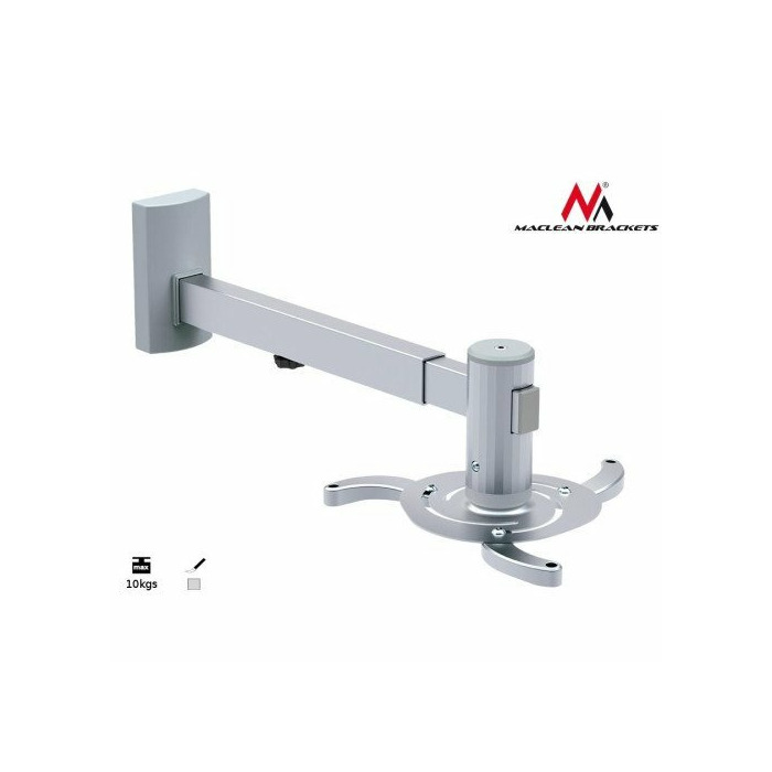 Maclean MC-516 UNIVERSAL PROJECTOR WALL MOUNT BRACKET 10KG TILT ROTATE