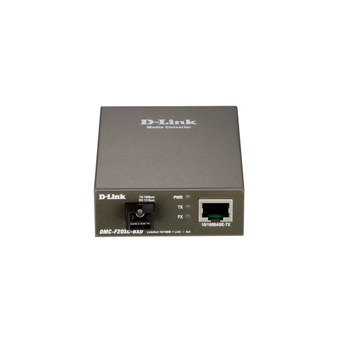 D-Link DMC-F20SC-BXD Fast Ethernet Twisted-pair to Fast Ethernet Single-mode Fiber (20km, LC, TX 1550nm, RX 1310nm) Media Converter Module