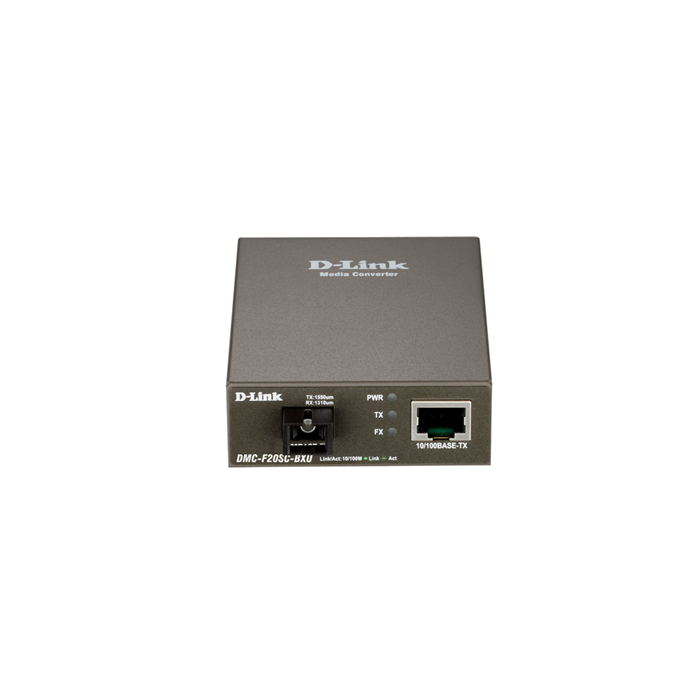 D-Link DMC-F20SC-BXU Fast Ethernet Twisted-pair to Fast Ethernet Single-mode Fiber (20km, LC, TX 1310nm, RX 1550nm) Media Converter Module