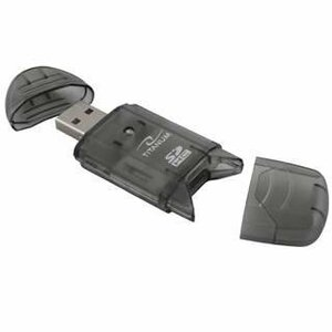TITANUM Card Reader SDHC/MiniSDHC/MicroSDHC/RS/MM TA101K Black USB 2.0