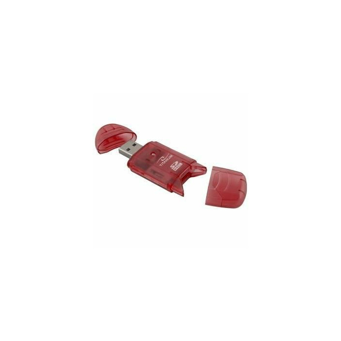 TITANUM Card Reader SDHC/MiniSDHC/MicroSDHC/RS/MM TA101R Red USB 2.0
