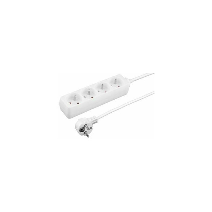 TITANUM Power Strip | 4 Sockets | Security | Cable 1.5 m | TL116 | White