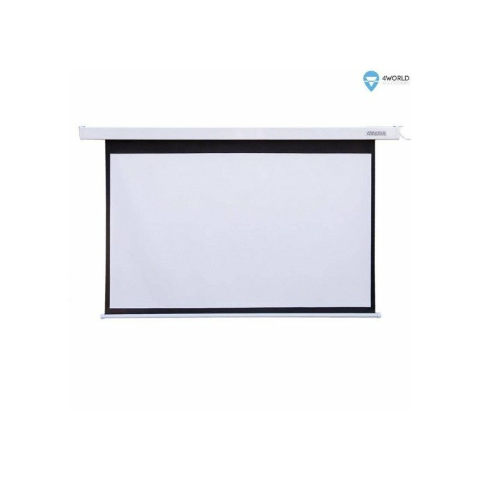 4World Electric mount projection screen, remote, 145x110 (4:3) Matt White