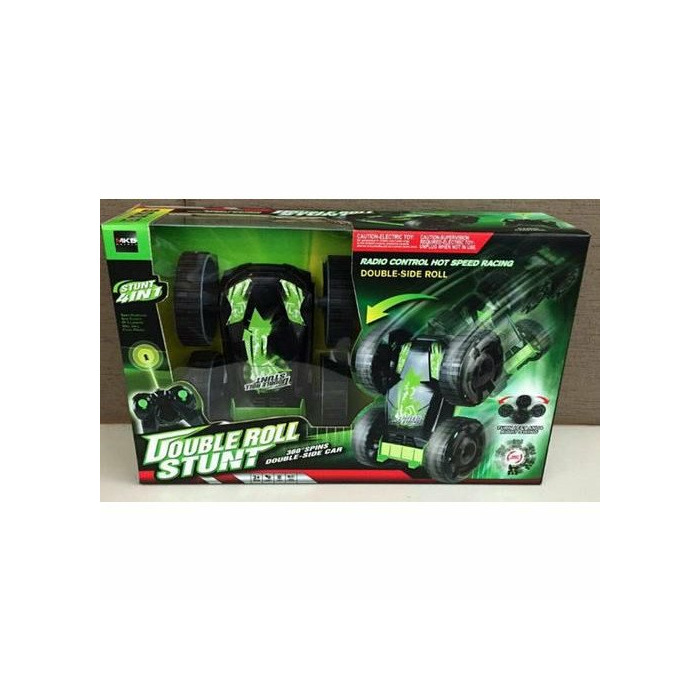 - 5588-603 Double Roll Stunt 360° Double-Side Car Radio Control Hot Speed Racing  green on black