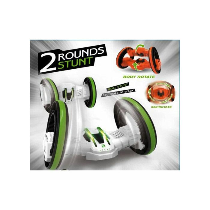 - 5588-606 2 Rounds Stunt 360° Spin Around Radio Control Hot Speed Racing  orange/black