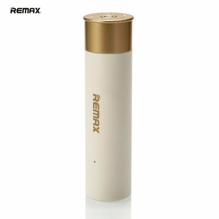 Remax PPL-18 2500mAh Patronas Čaulas Dizaina Power Bank USB PLigzdas Lādētājr 5V 1A Balts