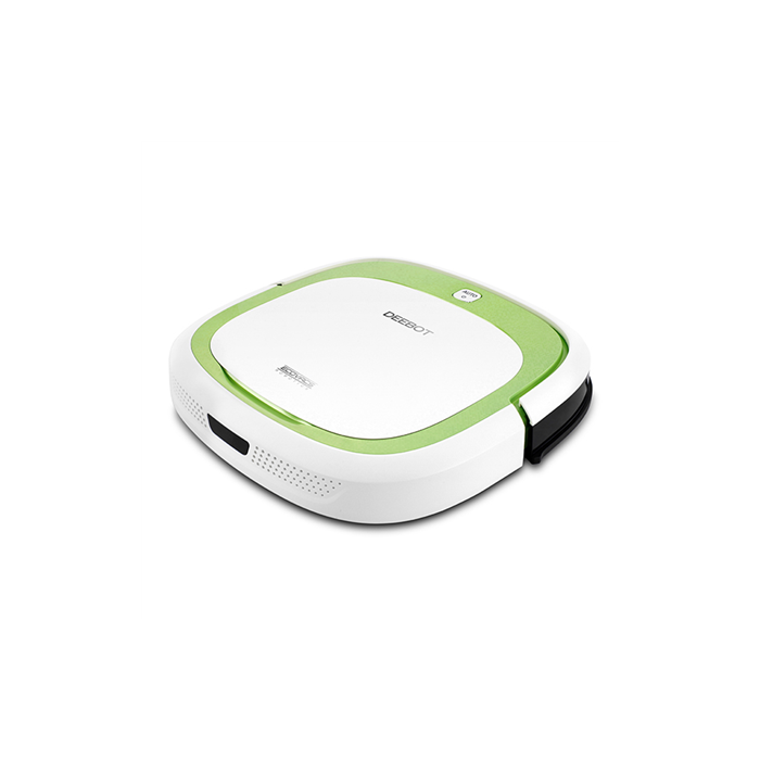 Ecovacs Floor cleaning robot DEEBOT SLIM Vacuum Cleaning Robot, White/ Light green, Cordless, 110 min