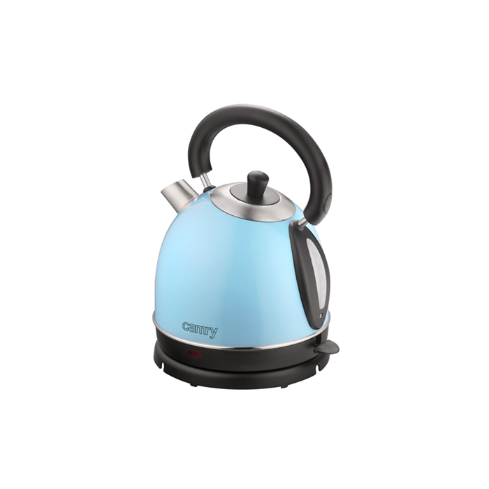 Camry Electric Water Kettle CR 1240  Standard, Stainless steel, Blue, 1800 W, 360° rotational base, 1,8 L