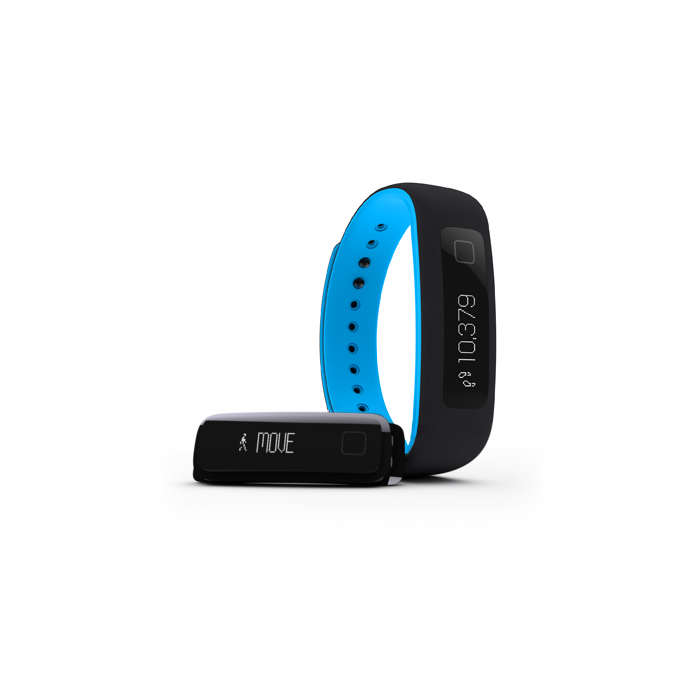 iFIT VUE FITNESS ACTIVITY TRACKER WEARABLE (Black Blue - S/M and L/XL)
