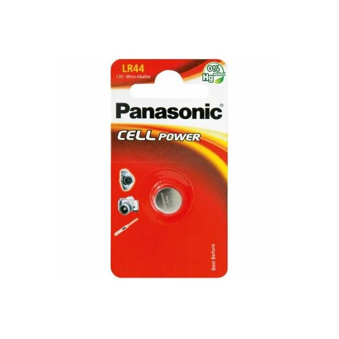 Panasonic Cell Power Alkaline battery LR44/A76, 1 pc, Blister