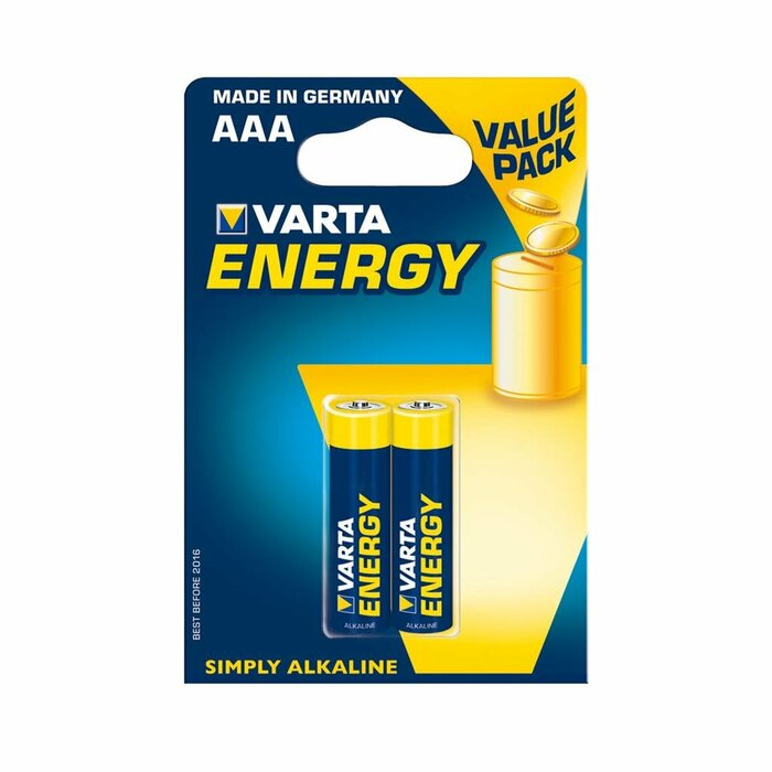 VARTA Alkaline batteries R3 (AAA) 2pcs energy