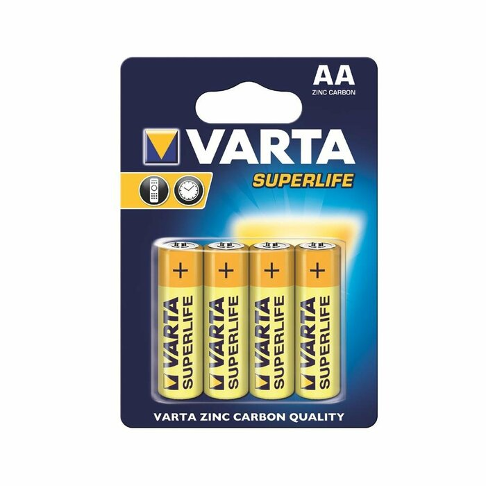 VARTA zinc carbon batteries R6 (AA) 4pcs superlife