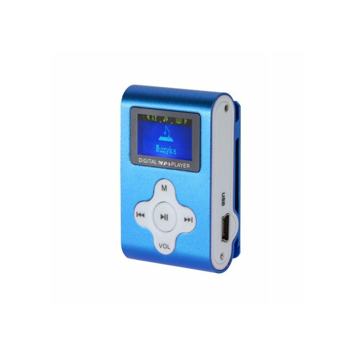 MP3 Player / Voice Recorder / FM Radio with LCD Quer blue