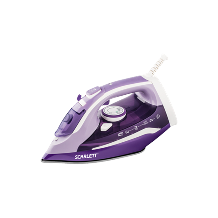 Scarlett Iron SC-SI30K16  Purple, 2400 W, Steam, Continuous steam 40 g/min, Steam boost performance 120 g/min, Auto power off, Anti-scale system, Vertical steam function, Water tank capacity 300 ml