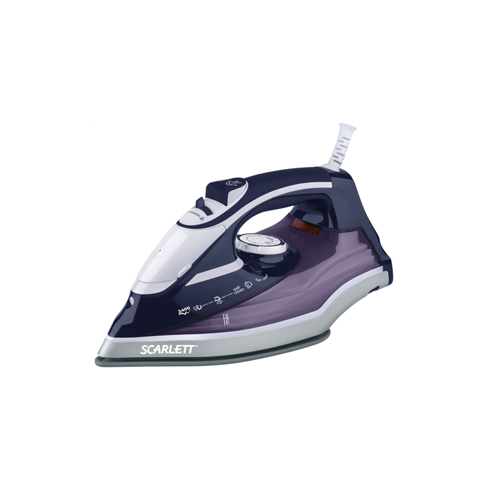 Scarlett Iron SC-SI30K19 Purple, 2400 W, Steam, Continuous steam 40 g/min, Steam boost performance 120 g/min, Auto power off, Anti-scale system, Vertical steam function, Water tank capacity 300 ml