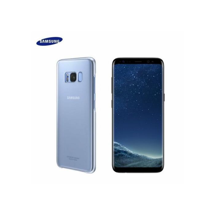 Samsung EF-QG955CLE Oriģināls Īpaši plāns aizmugures maks-apvalks G955 Galaxy S8 Plus / S8+ Caurspīdīgs/Zils