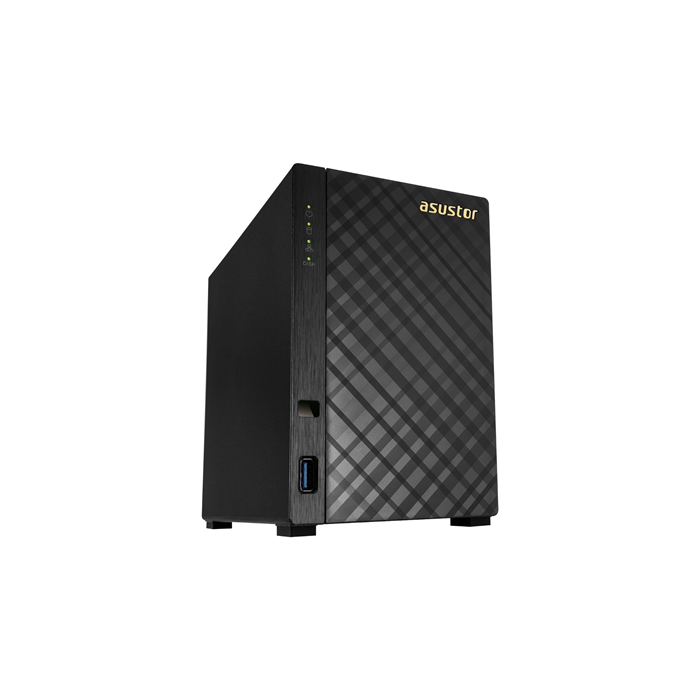 Asus Asustor Tower NAS AS1002T up to 2 HDD/SSD, Marvell, Armada 385, 1 GHz, 0.512 GB, 1xGbE, USB 3.0, Black