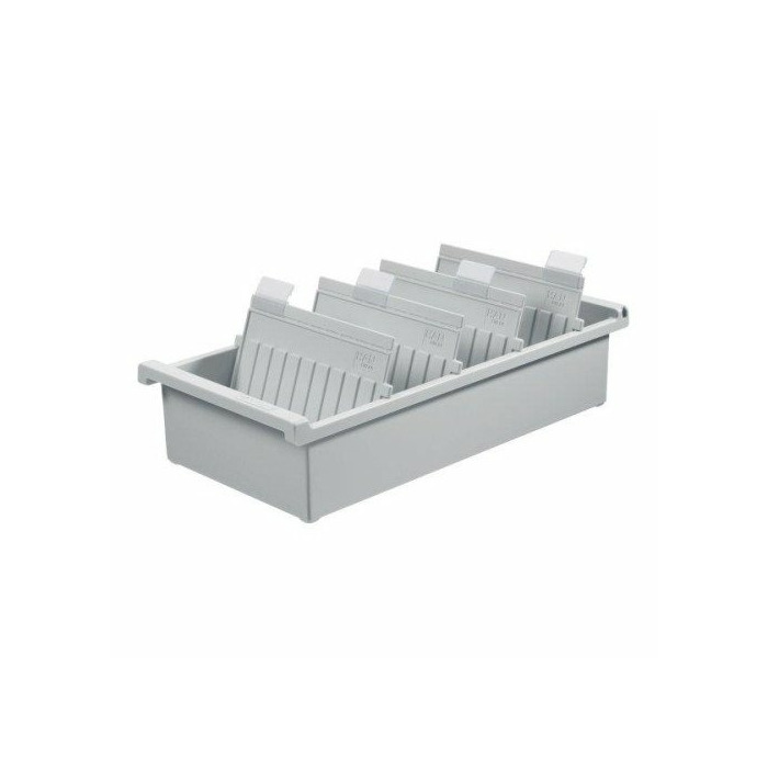 Card Index Box HAN Kartei, open, polystyrene, A4, grey