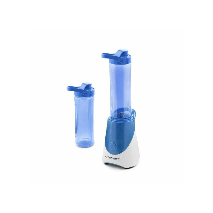 Esperanza EKM015B MINI BLENDER WITH 2 SPORTY BOTTLES - 2 x 0,6l. 250W - BLUE