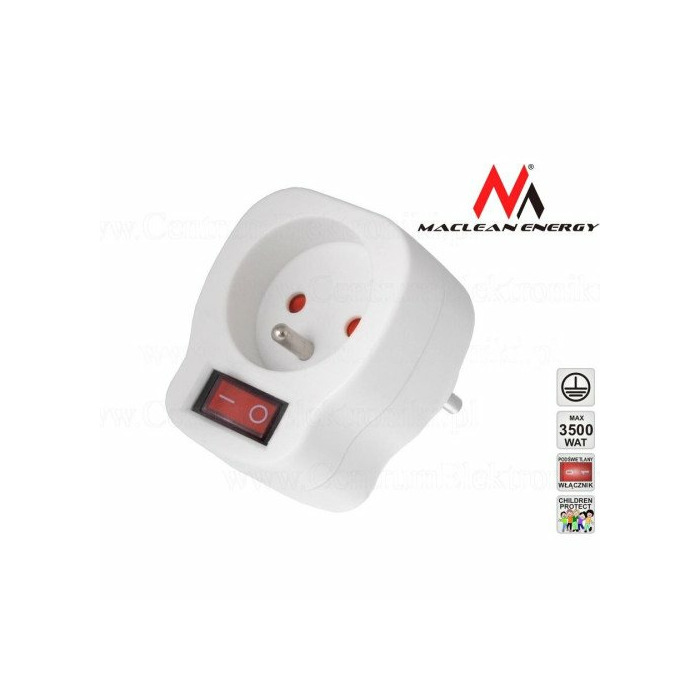 Maclean MCE13 Socket with switch