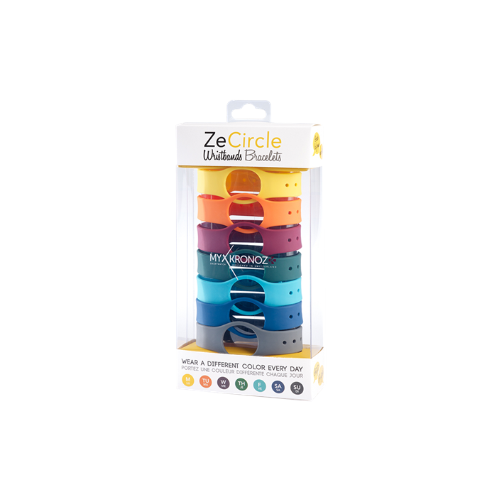 MyKronoz Wristbands  Zecircle Pack7 Colorama Yellow, orange, bordo, green, light blue, blue, grey