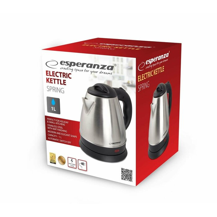 Esperanza EKK016X Electric kettle 1 L 1350 W Inox