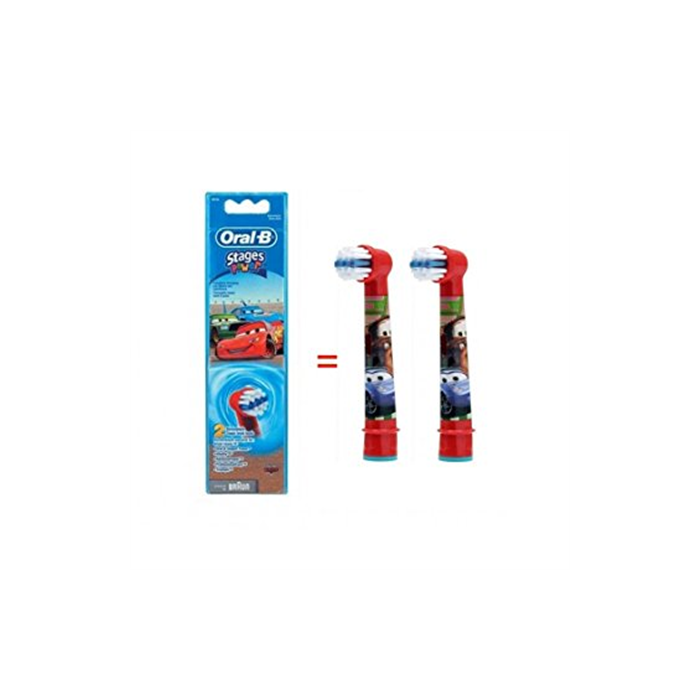 Oral-B Cars EB-10  Replacement Heads For Toothbrush Extra Soft for kids, Number of brush heads included 2