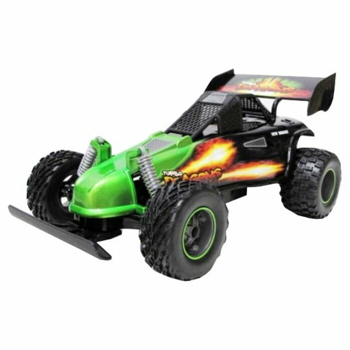 Turbo Dragons Buggy Green R/C, 1:16 Scale