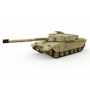 Tank British Challenger 1 Desert Yellow R/C, 1:72 Scale