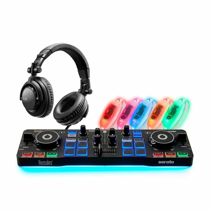 Hercules DJ Party Set Digital Vinyl System (DVS) scratcher Black