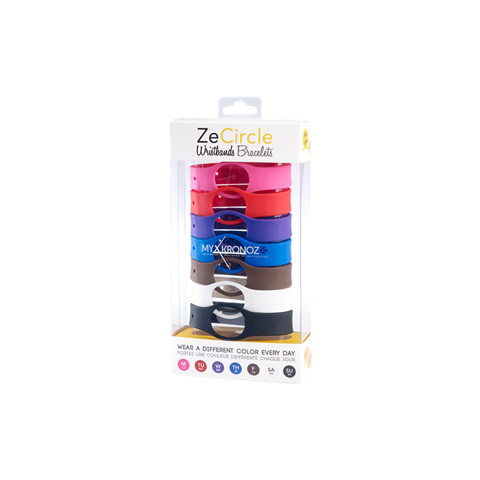 MyKronoz Wristbands  Zecircle Pack7 Classic Pink, red, purple, blue, brown, white, black