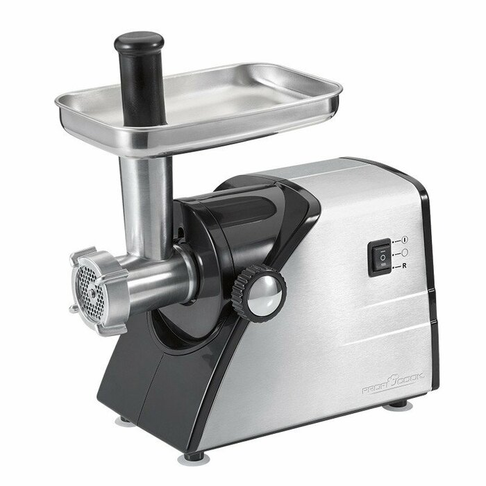 ProfiCook PC-FW 1060 mincer 1000 W Black, Stainless steel