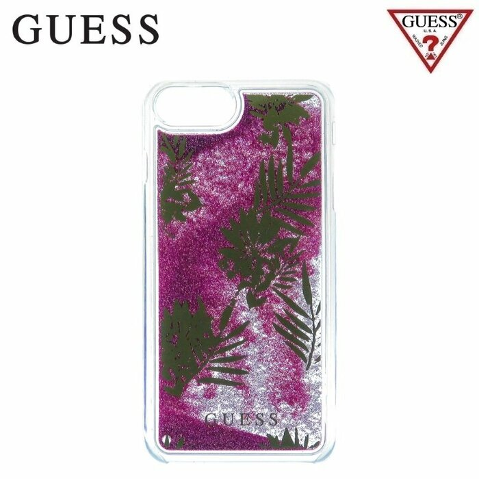 GUESS GUHCP7LGLUPPI Liquid Glitter Hard plastic back cover case Apple iPhone 6 Plus / 6S Plus / 7 Plus 5.5inch Palm Pink