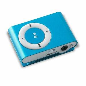 Setty MP3 Super Kompakts Atskaņotājs ar microSD karte slotu + Austiņas Zils